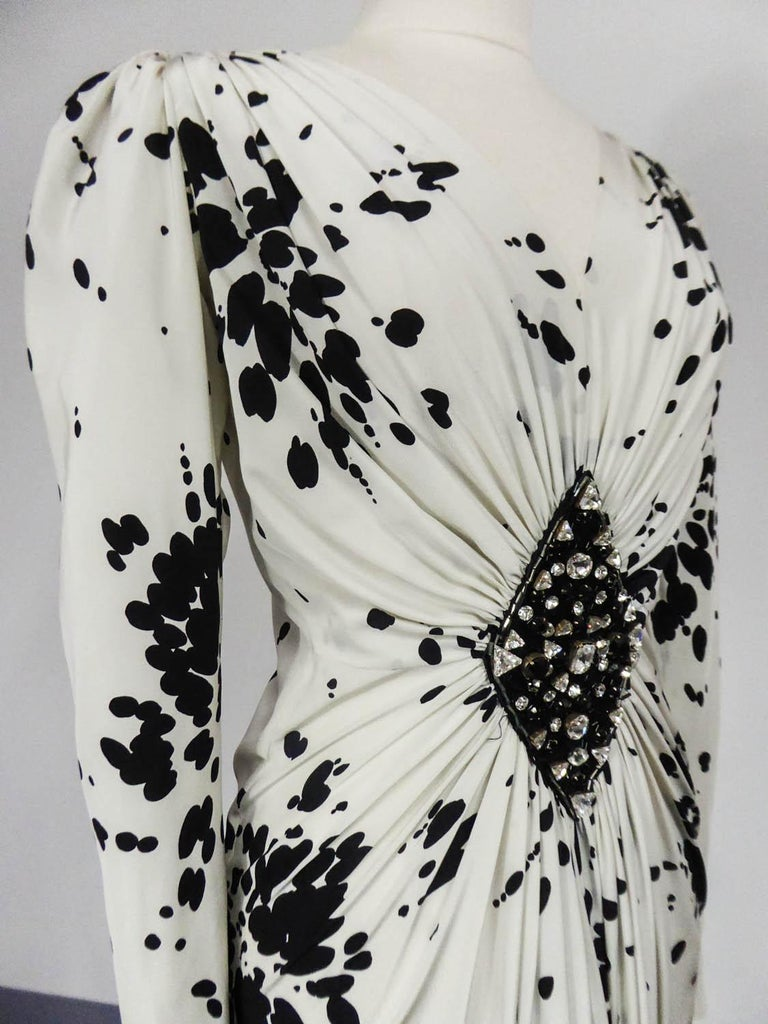 A Couture Yves Saint Laurent (attributed to) Evening Dress Circa 1984 For Sale 2