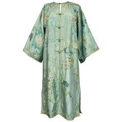A Crepe Silk Embroidered Evening Japonese Coat for Europe Circa 1920