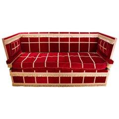 Crimson Velvet Knole Sofa