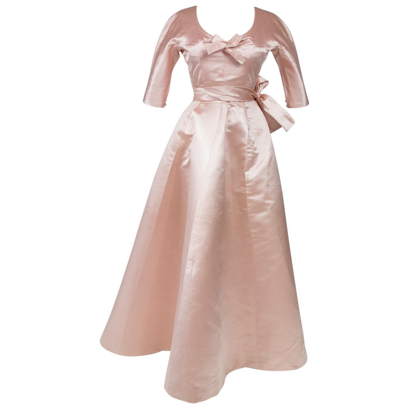 A Cristobal Balenciaga Haute Couture Ball Gown Numbered 61819 - Circa 1960