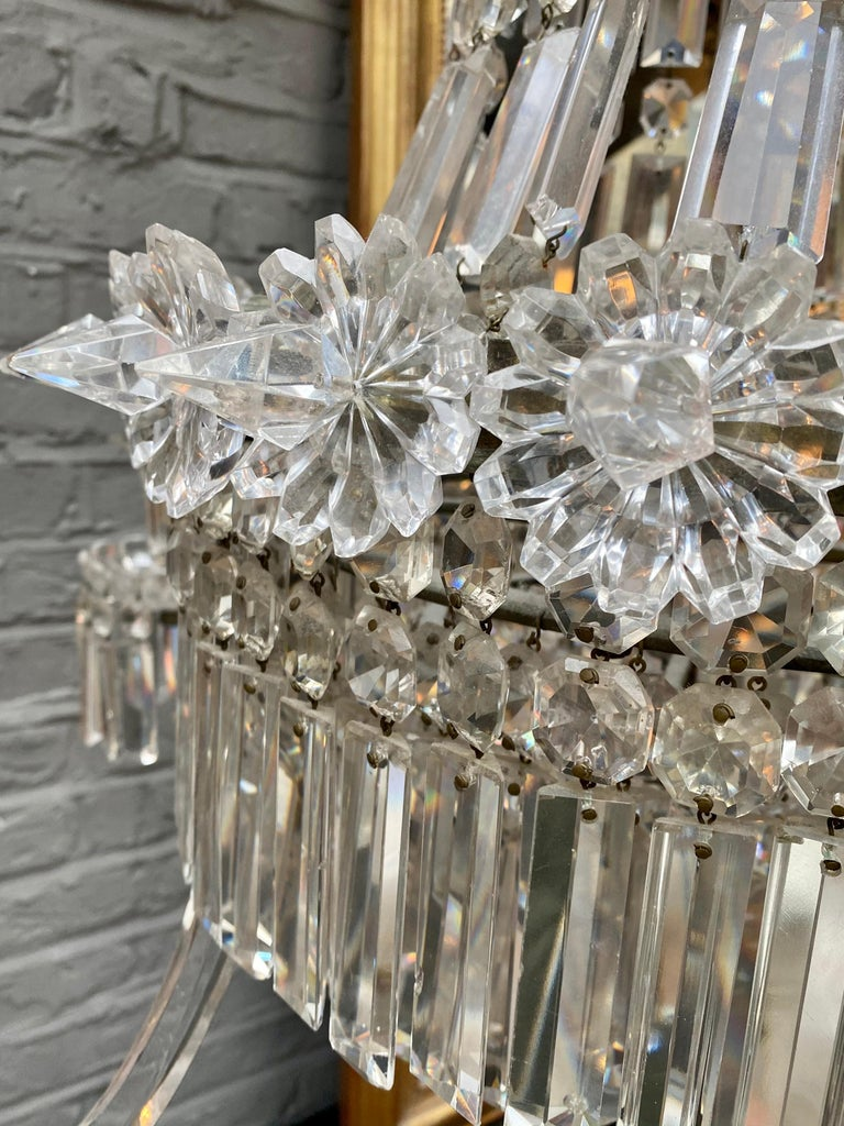 Crystal and Bronze Empire Style Chandelier For Sale 2