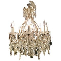 Crystal Venetian Style Chandelier Recently Rewired