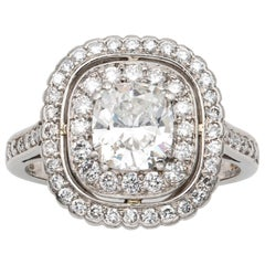 Cushion-Cut Diamond Cluster Ring