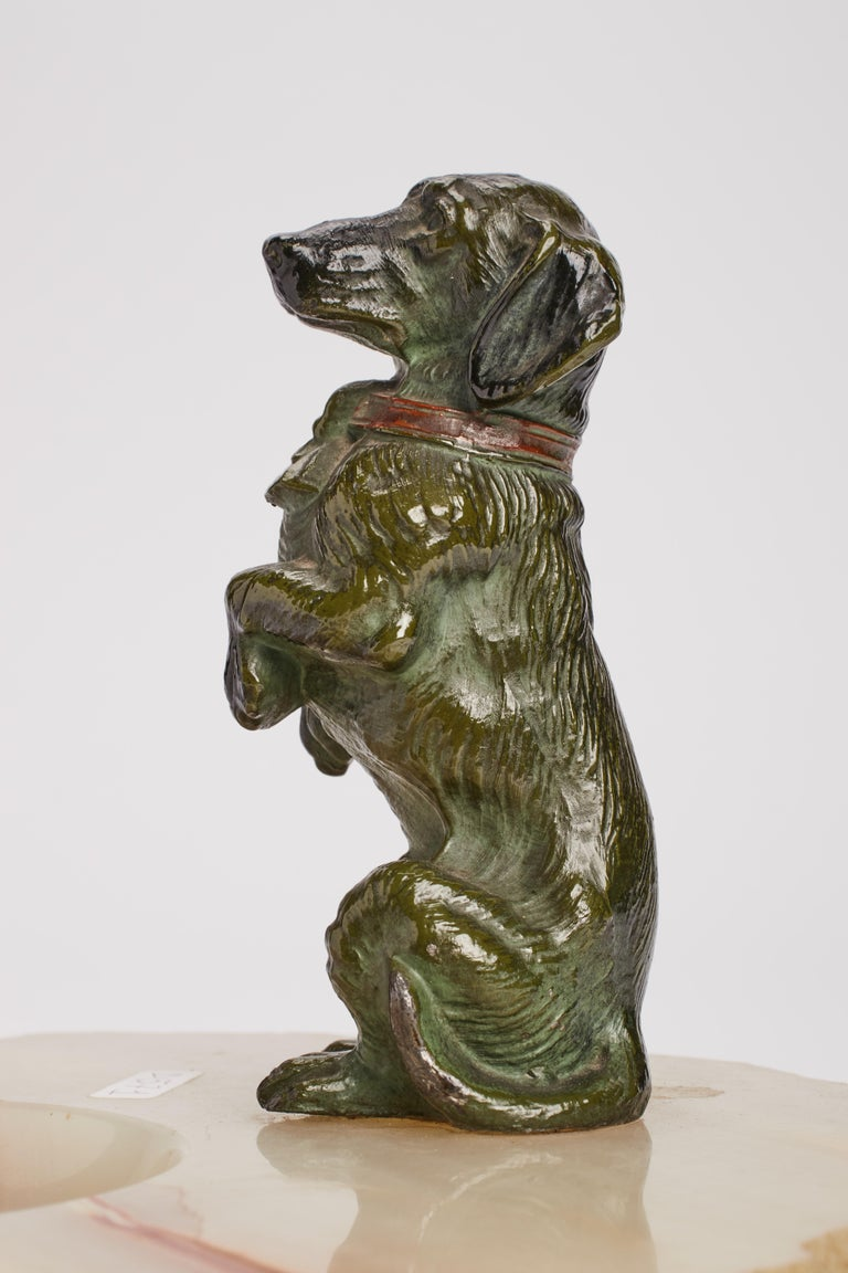 Dachshund Ashtray, Vienna, 1890 In Excellent Condition For Sale In Milan, IT