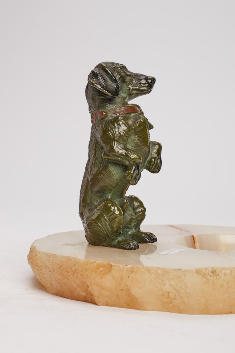 Late 19th Century Dachshund Ashtray, Vienna, 1890 For Sale