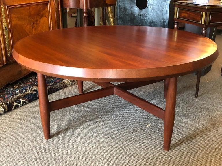 An unusual Danish teak coffee table or game table (approx 21
