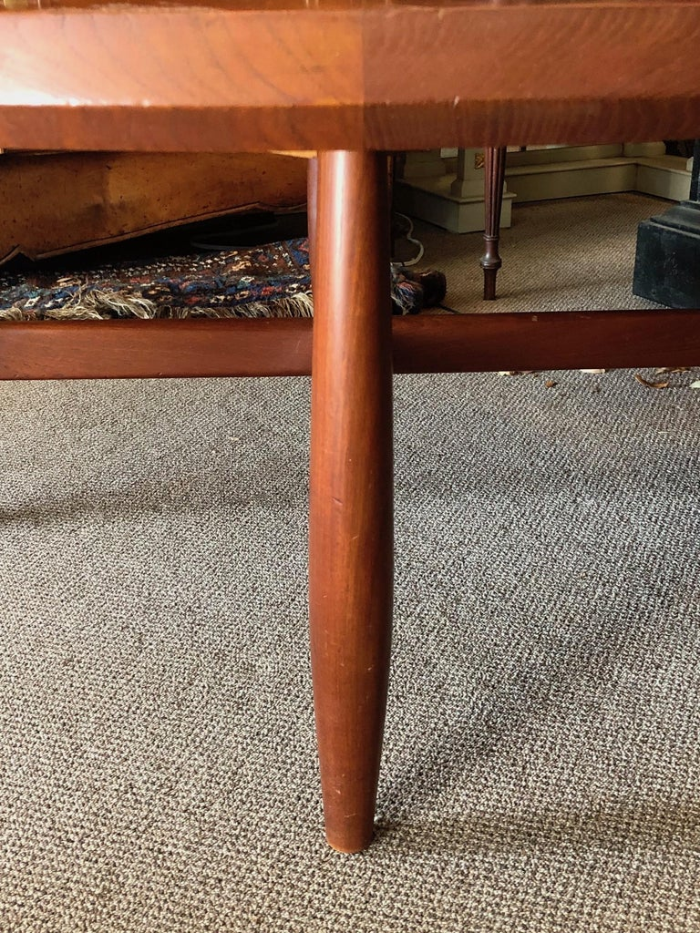 Danish Coffee Table or Low Game by with Sculptural X Base In Good Condition For Sale In St.Petersburg, FL