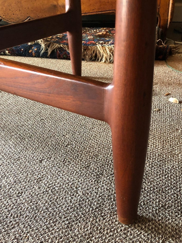 Mid-20th Century Danish Coffee Table or Low Game by with Sculptural X Base For Sale