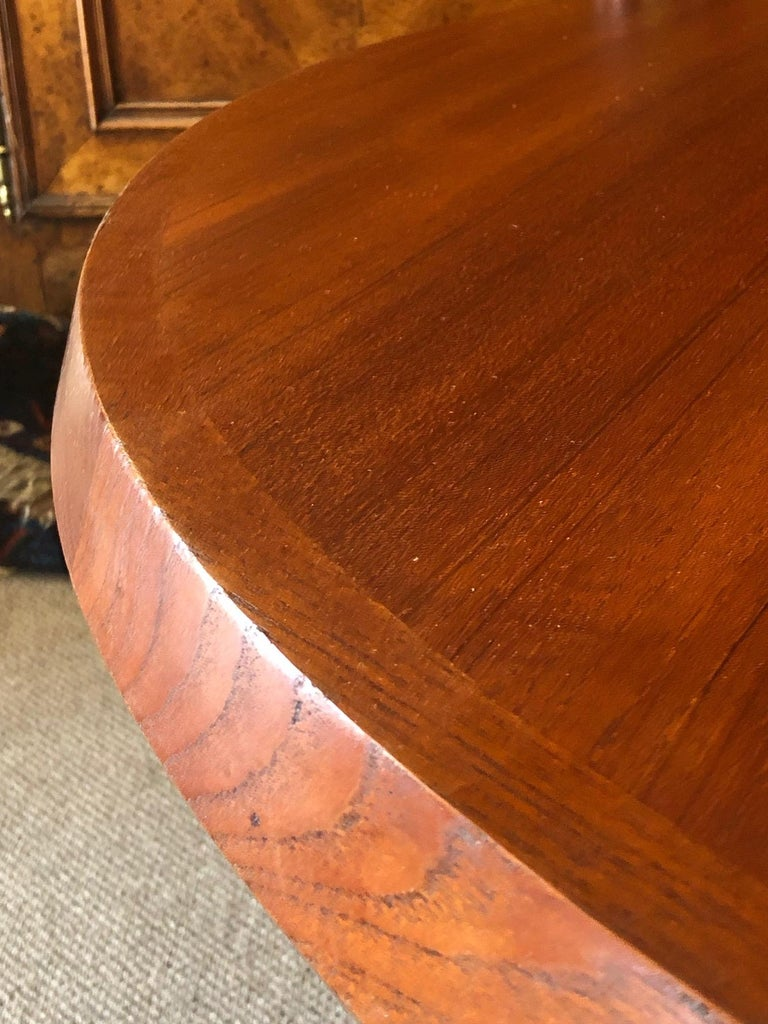 Teak Danish Coffee Table or Low Game by with Sculptural X Base For Sale