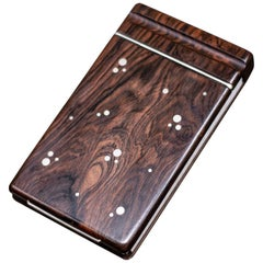Danish Rosewood Notebook by Silversmith Axel Salomonsen, 1960s
