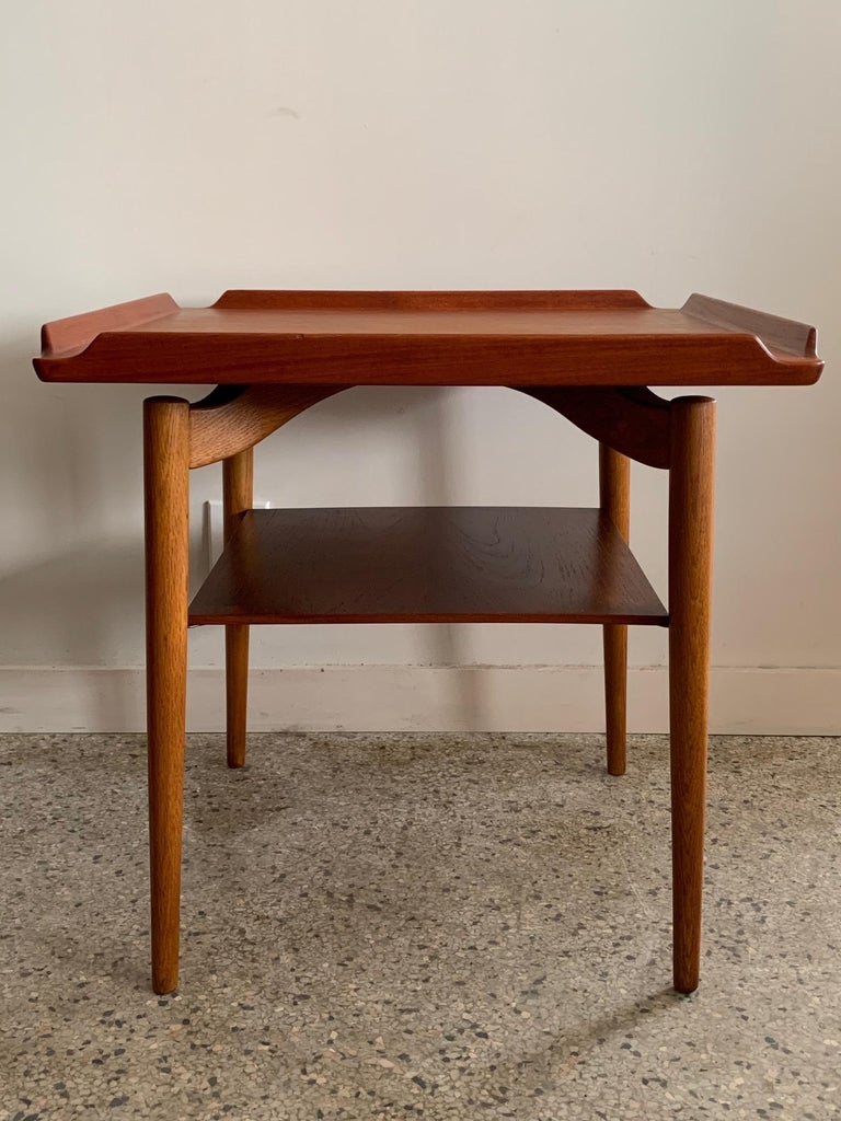 Mid-Century Modern Danish Side Table by George Tanier For Sale