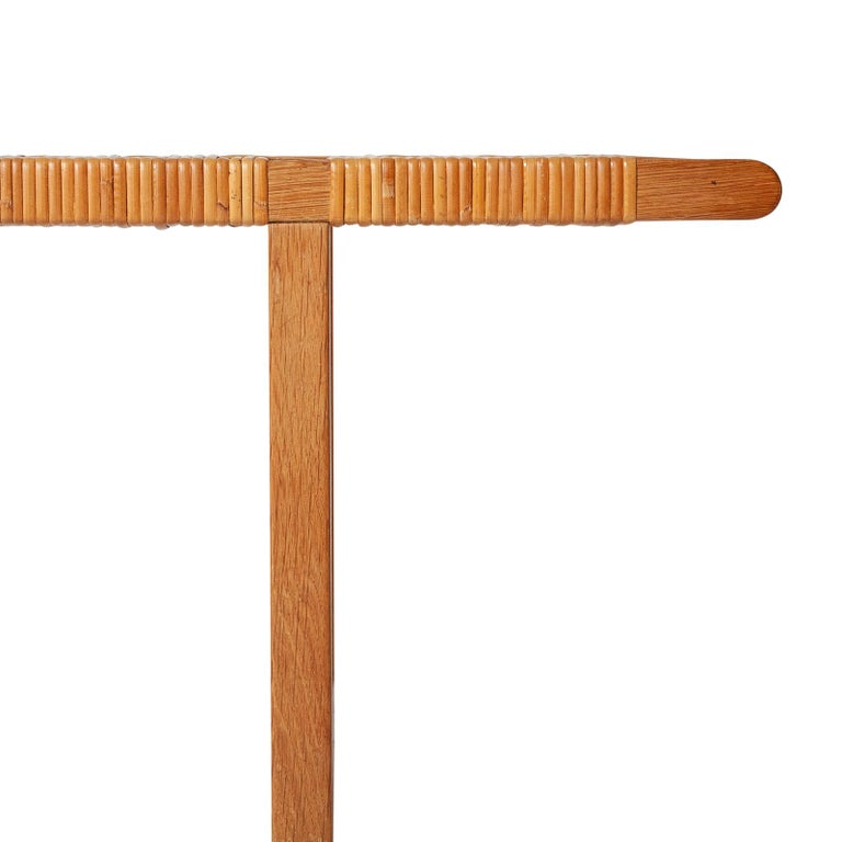 Danish Table Bench in Oak and Cane by Børge Mogensen In Good Condition For Sale In Copenhagen, DK