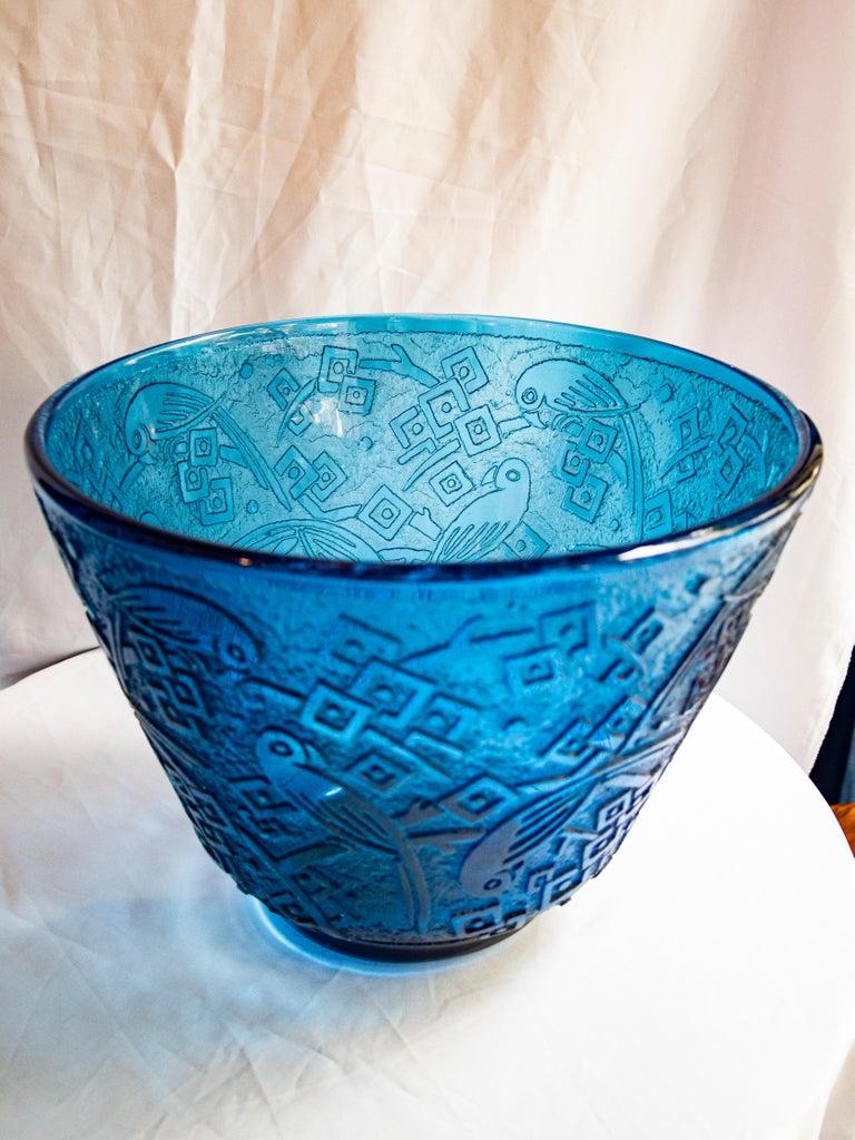 Art Deco Daum Nancy Acid-Etched Glass Vase, circa 1925 For Sale