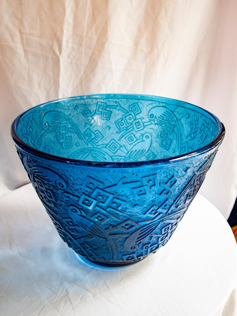 French Daum Nancy Acid-Etched Glass Vase, circa 1925 For Sale