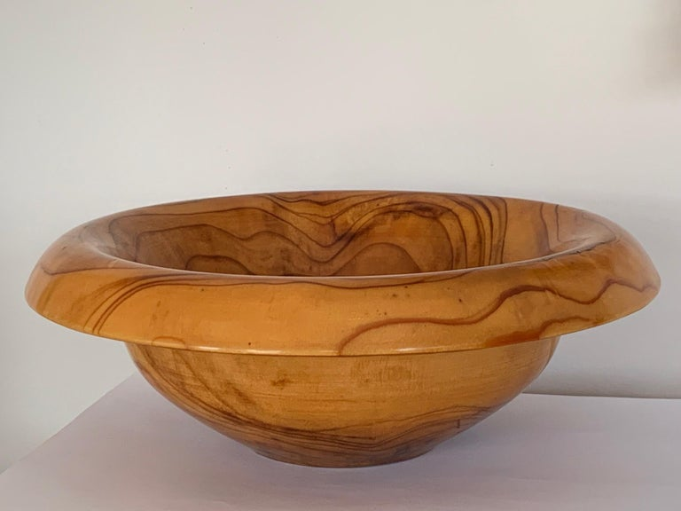 A rare form bowl by Ed Moultrop, circa 1970s. Etched on base