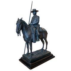 "A. de la Peña Spanish Bronze ""Picador"" Bullfighter Figure Numbered 11/100"