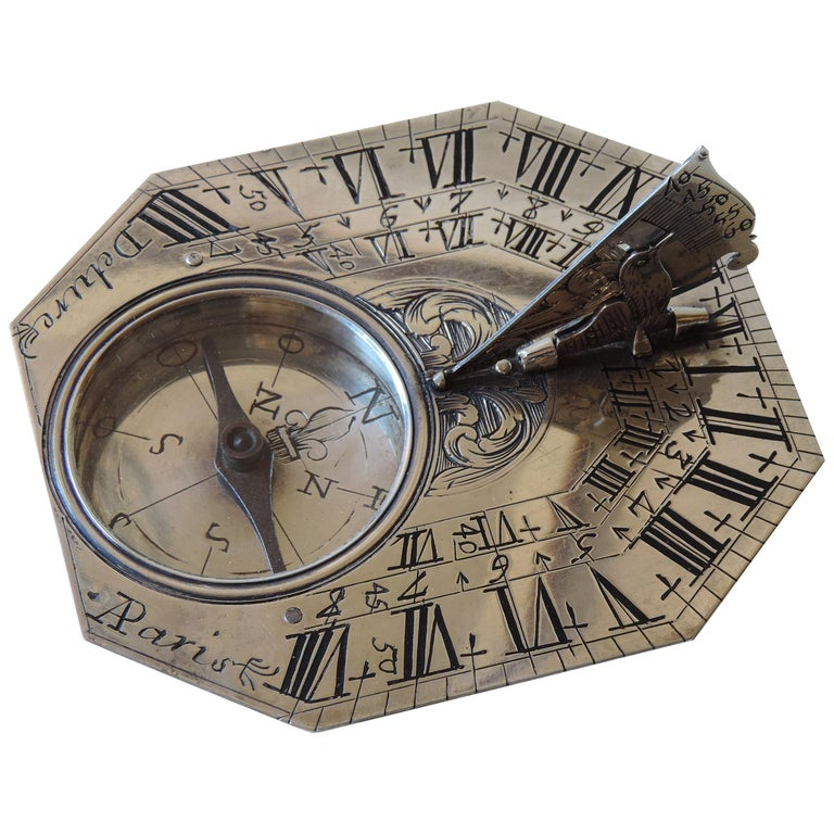 Delure Silver Butterfield Dial, Early 18th Century For Sale