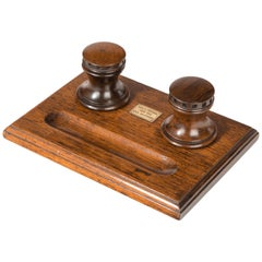 Desk Set Made of Timber from HMS Collingwood England, circa 1890