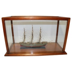 Detailed Early 20th Century English Scale Model of a 3 Mast Sailing Ship