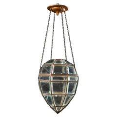 A Diamond Form Glass Pendant Hanging Light