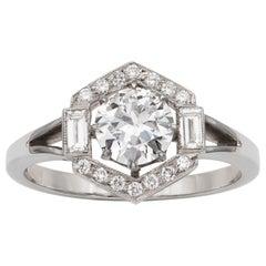 Diamond Hexagonal Cluster Ring