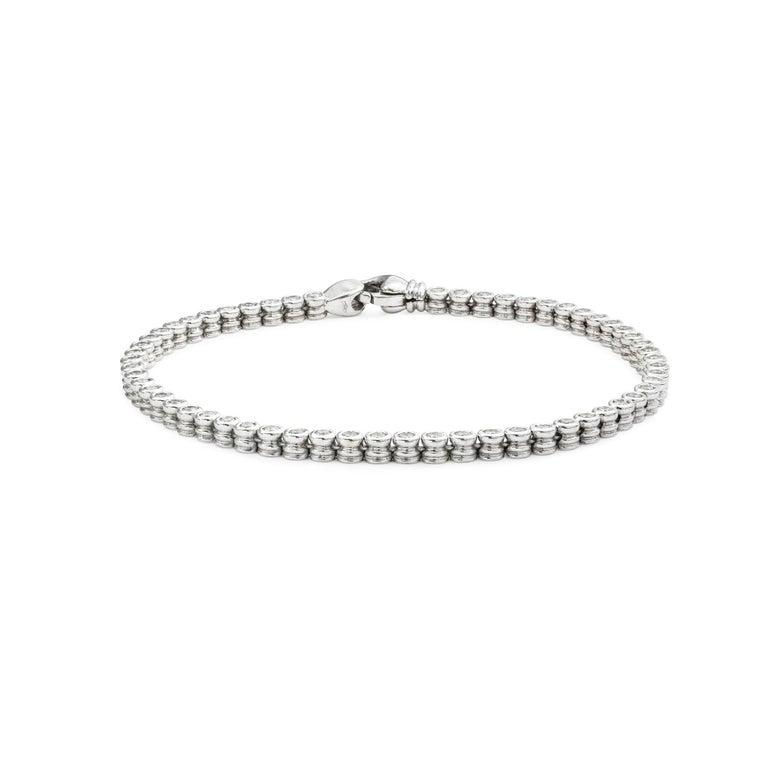 Modern Diamond Line Bracelet For Sale