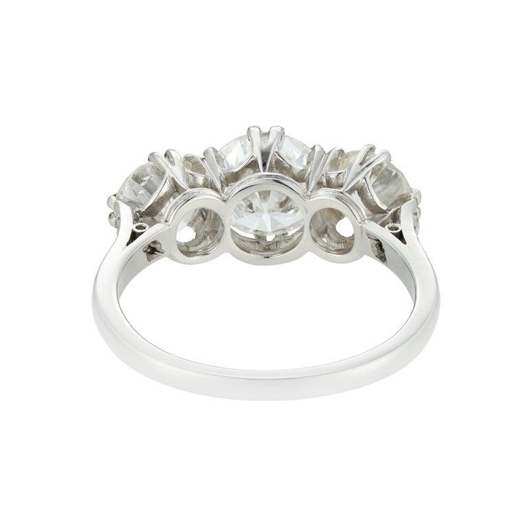 Modern Diamond Three Stone Ring For Sale