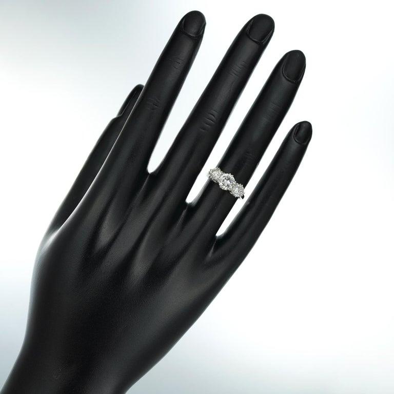 Women's or Men's Diamond Three Stone Ring For Sale