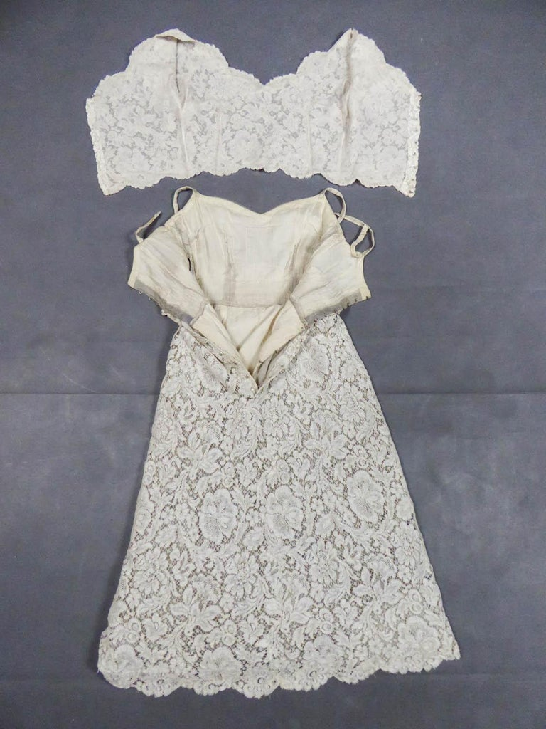 A Dior/ Bohan Couture Cream Lace Dress and Bolero numbered 94445 Circa 1965 For Sale 7