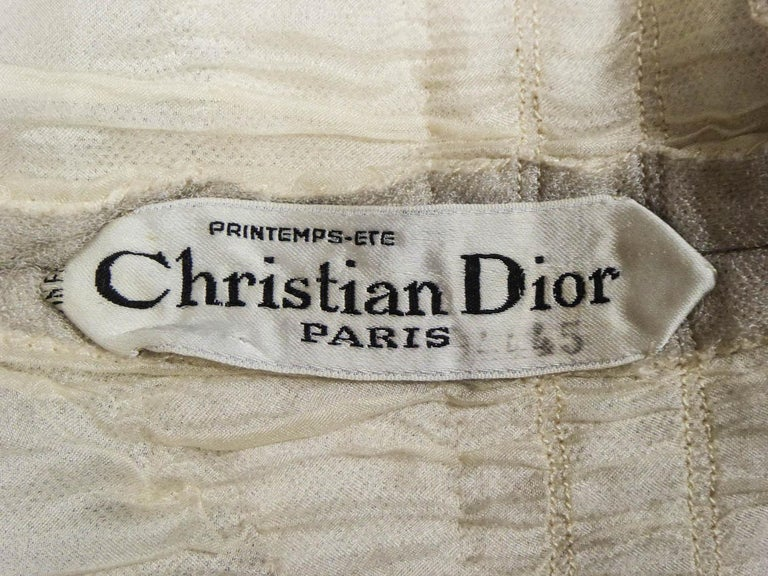 A Dior/ Bohan Couture Cream Lace Dress and Bolero numbered 94445 Circa 1965 For Sale 8