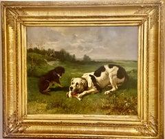 Dog Painting by Charles 'Michel Maria' Verlat '1824-1890' Belgian