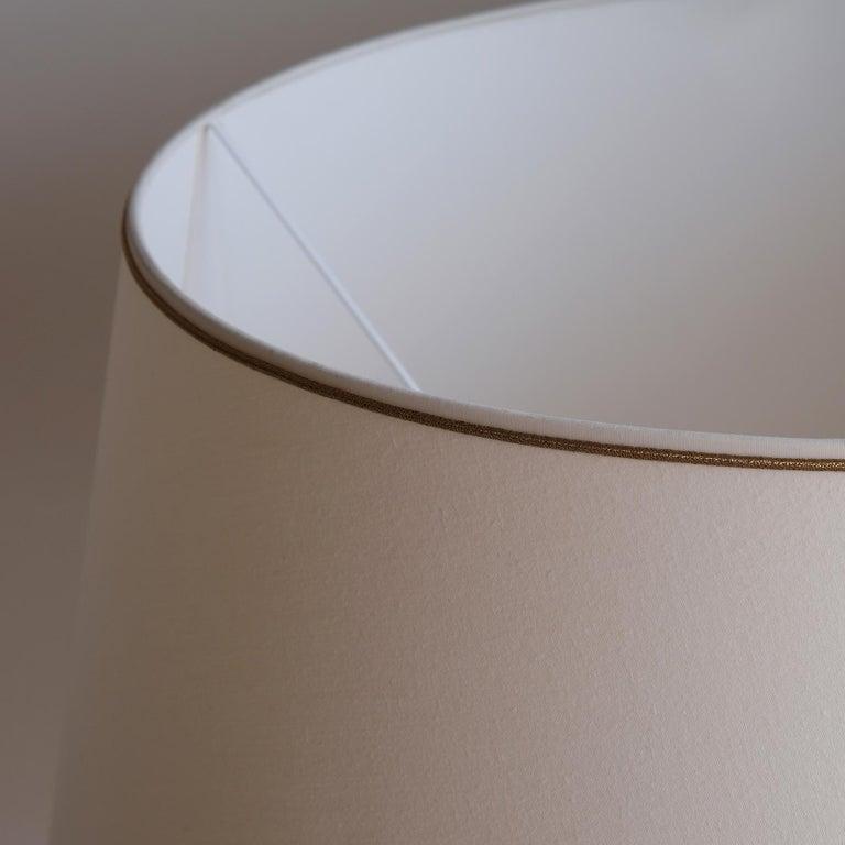Beech Doric Column Table Lamp, Art DecoStyle, 21st Century For Sale