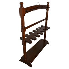 Double Sided Georgian Mahogany Boot and Whip Rack