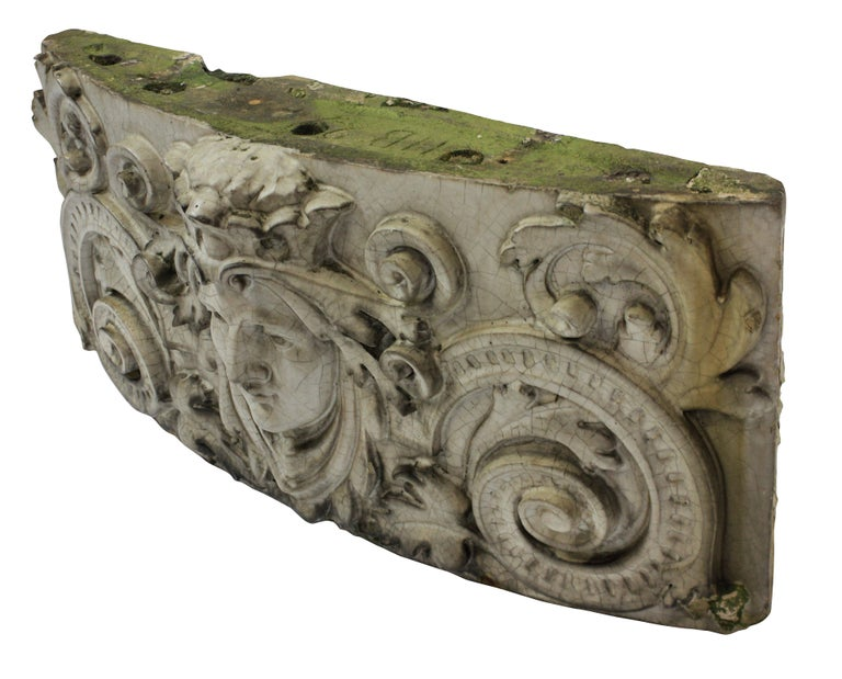 Early 20th Century Doulton Carrara Ware Wall Pediment For Sale