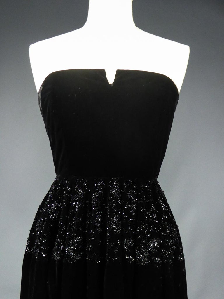 A Dress and Bolero French Couture Evening Set with Worth Label Circa 1950 For Sale 10