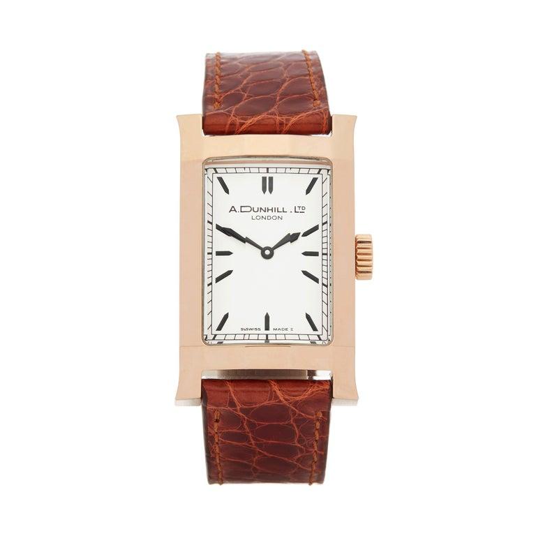 A. Dunhill Ltd. Facet Ltd. 24/500 18 Karat Rose Gold 8059A For Sale