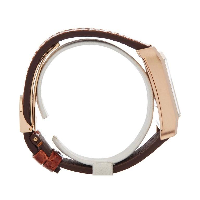 Women's or Men's A. Dunhill Ltd. Facet Ltd. 24/500 18 Karat Rose Gold 8059A For Sale