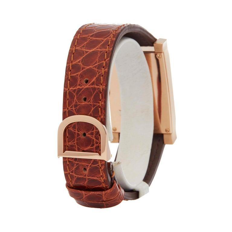 A. Dunhill Ltd. Facet Ltd. 24/500 18 Karat Rose Gold 8059A For Sale 1