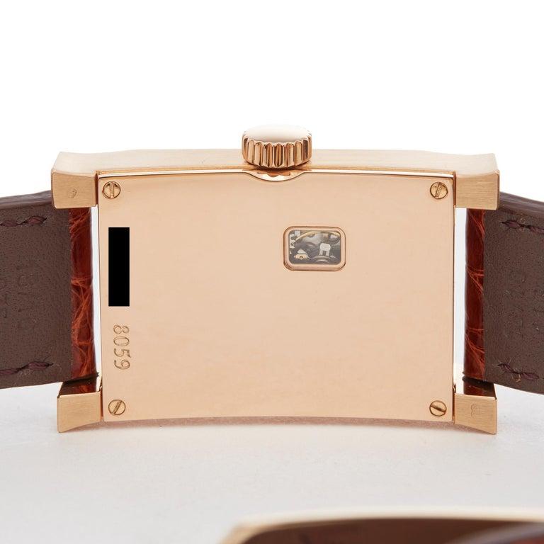 A. Dunhill Ltd. Facet Ltd. 24/500 18 Karat Rose Gold 8059A For Sale 2