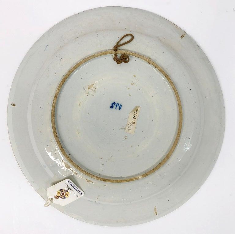 18th Century Dutch Delft Orangist Double Portrait Dish by De Porceleyne Lampetkan For Sale