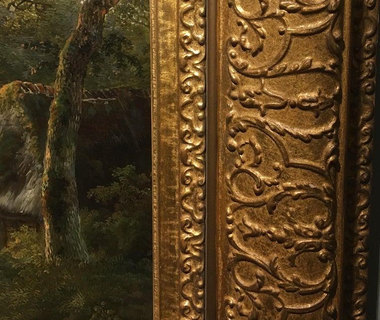'A Dutch Farmstead' Oil on Panel by William De Klerk, 1800-1868 For Sale 1