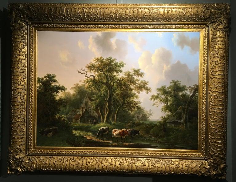 'A Dutch Farmstead' Oil on Panel by William De Klerk, 1800-1868 For Sale 2