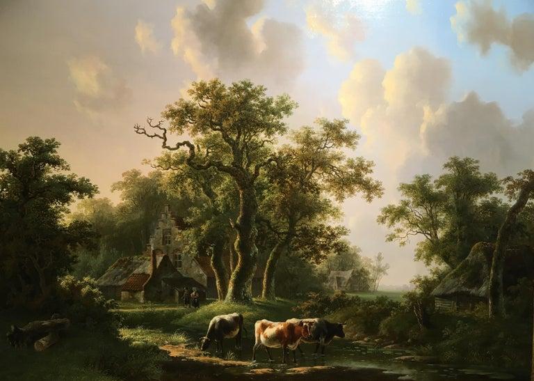 'A Dutch Farmstead' Oil on Panel by William De Klerk, 1800-1868 For Sale 3