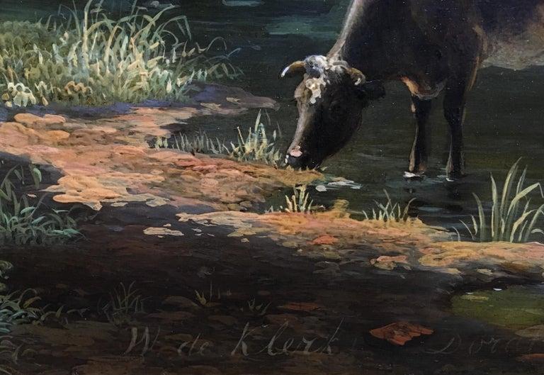 'A Dutch Farmstead' Oil on Panel by William De Klerk, 1800-1868 For Sale 4