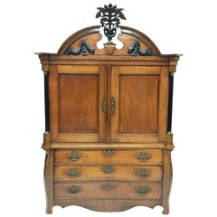 Dutch Oak Very Nice Small Cabinet from the Period 1840-1860