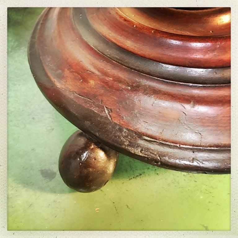Dutch Walnut Coal Bucket with Brass Liner For Sale 2