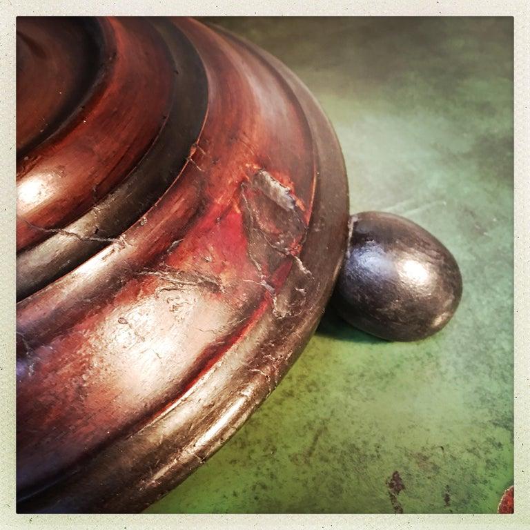 Dutch Walnut Coal Bucket with Brass Liner For Sale 3