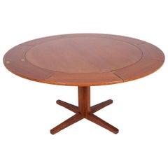 "Dyrlund Teak ""Lotus"" Dining Table, 1960s"