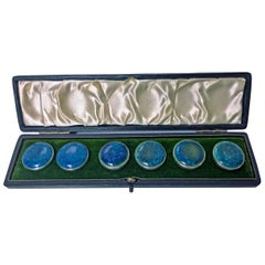 A E Jones Set Silver Ruskin Buttons, Birmingham, 1903