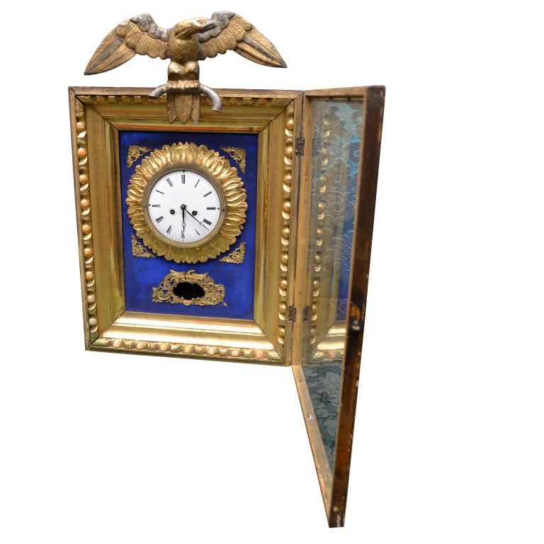 Early 19th Century Austrian Biedermeier Wall Clock In Good Condition For Sale In Vancouver, British Columbia